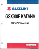 1989 - 1997 Suzuki GSX600F Katana Series Factory Service Manual (SKU: 995003502803E)