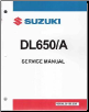 2004 - 2011 Suzuki DL650 & 2007 - 2009 DL650A V-Strom Factory Service Manual (SKU: 995003613503E)