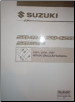1999 - 2001 Suzuki SQ416, SQ420 & SQ625 (Vitara, Grand Vitara) Factory Wiring Diagrams Manual (SKU: 9951265D2033E)
