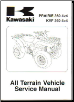 2003 - 2013 Kawasaki KVF360 Prairie ATV Factory Service Manual (SKU: 99924128512)