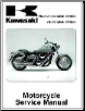 2004 - 2008 Kawasaki Mean Streak VN1600-B/F Motorcycle Factory Service Manual (SKU: 99924132105)