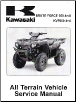 2006 - 2014 Kawasaki KVF650F, G, & H Brute Force 650 4x4i ATV Factory Service Manual (SKU: 99924136309)