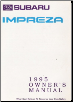 1995 Subaru Impreza Owner's Manual (SKU: A175BE)