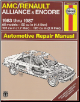 1983  - 1987 AMC / Renault Alliance and Encore Haynes Repair Manual (SKU: 1850105324)