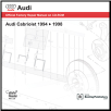 1994 - 1998 Audi Cabriolet Official Factory Repair Manual on CD-ROM (SKU: BENTLEY-AB35)
