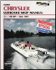 1966 - 1984 Chrysler 3.5 - 140 HP Clymer Outboard Repair Manual (SKU: B750-0892875518)