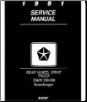 1991 Dodge Ram & RamCharger D&W 150 - 350 Rear Wheel Drive Truck Factory Shop Manual on CD-ROM (SKU: BISH-1440)