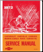 1972 Chevrolet Car Factory Service Manual and Fisher Body Manual on CD-ROM (SKU: BISH-1559)