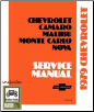 1979 Chevrolet Camaro, Malibu, Monte Carlo & Nova Factory Shop Manual on CD-ROM (SKU: BISH-1695)