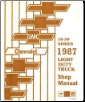 1987 Chevrolet Truck Light Duty Factory Service Manual on CD-ROM (SKU: BISH-3551)