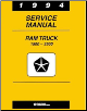 1994 Dodge Ram 1500 - 3500 Truck Factory Shop Manual on CD-ROM (SKU: BISH-2822)