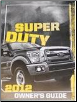 2012 Ford F-250, F-350, F-450 & F-550 Truck Factory Owner's Manual (SKU: CC3J19A321AB)
