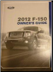 2012 Ford F-150 Factory Owner's Manual (SKU: CL3J19A321AC)