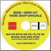 2000 - 2004 Isuzu N & F Series, GMC & Chevrolet W Series (Diesel Engines) Factory Workshop Manual on CD-ROM (SKU: ITS-CD2)