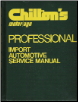 1972 - 1977 Chilton's Import Auto Service Manual & Labor Guide (SKU: 6580)