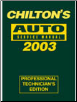 2003 Chilton's Auto Service Manual, Shop Edition (1999 - 2002 Year coverage) (SKU: 0801993563)