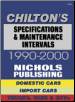 Specifications & Maintenance Intervals by Chilton (SKU: 0801993105)