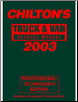 2003 Chilton's Truck & Van Service Manual, Shop Edition (1999 - 2002 Year coverage) (SKU: 080199358X)