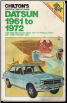 1961 - 1972 Datsun Cars & Pick-Ups Chilton's Repair & Tune-Up Guide (SKU: 0801957907)