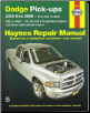 2002 - 2008 Dodge RAM Pick-Ups - 2WD & 4WD V6, V8 & V10 Gas & Cummins Turbo-Diesel Engines Haynes Repair Manual (SKU: 156392742X)
