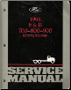 1995 Ford F&B 700-800-900 Body & Chassis Service Manual (SKU: FCS12109951)