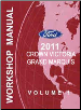 2011 Ford Crown Victoria & Mercury Grand Marquis Factory Workshop Manual (SKU: FCS1219111)