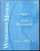 2010 Ford Mustang Factory Service Manual - 2 Volume Set (SKU: FCS1219310)
