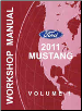 2011 Ford Mustang Factory Service Manual - 2 Volume Set (SKU: FCS1219311)