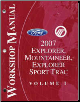 2007 Ford Explorer, Mercury Mountaineer, Explorer Sport Trac Factory Workshop Manual - 2 Volume Set (SKU: FCS12199071-2)