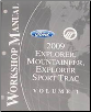2009 Ford Explorer, Explorer Sport Trac & Mercury Mountaineer Factory Workshop Manual - 2 Vol. Set (SKU: FCS1219909)