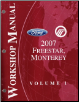 2007 Ford Freestar, Mercury Monterey Factory Service Manual - 2 Volume Set (SKU: FCS12249071-2)