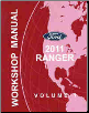 2011 Ford Ranger Factory Workshop Manual - 2 Volume Set (SKU: FCS12542111-2)