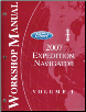 2007 Ford Expedition, Lincoln Navigator Factory Workshop Manual - 2 Volume Set (SKU: FCS12561071-2)