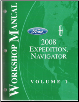 2008 Ford Expedition / Navigator Factory Workshop Manual - 2 Volume Set (SKU: FCS1256108-2)