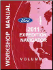 2011 Ford Expedition / Navigator Factory Workshop Manual - 2 Volume Set (SKU: FCS1256111-2)