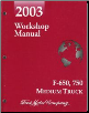 2003 Ford F-650, 750 Medium Truck Factory Workshop Manual (SKU: FCS1286403)