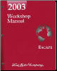 2003 Ford Escape Factory Workshop Manual (SKU: FCS1295103)