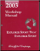 2003 Ford Explorer Sport Trac & Explorer Sport Factory Workshop Manual (SKU: FCS1296403)