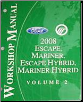 2008 Ford Escape, Mercury Mariner, Escape Hybrid, Mariner Hybrid Factory Workshop Manual - 2 Volume Set (SKU: FCS1379608-1-2)
