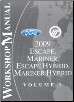 2009 Ford Escape, Mercury Mariner, Escape Hybrid, Mariner Hybrid Factory Workshop Manual - 2 Volume Set (SKU: FCS1379609-1-2)