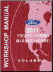 2011 Ford Escape, Escape Hybrid, Mercury Mariner & Mariner Hybrid Factory Workshop Manual (SKU: FCS1379611)