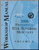 2006 Ford FreeStyle / Ford Five Hundred / Mercury Montego Factory Service Manual - 2 Volume Set (SKU: FCS13949061-2)
