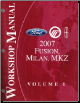 2007 Ford Fusion, Mercury Milan & Lincoln MKZ Factory Service Manual - 2 Volume Set (SKU: FCS14268071-2)