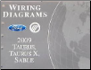 2009 Ford Taurus, Taurus X & Mercury Sable Factory Wiring Diagrams Manual (SKU: FCS1430109)