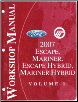 2007 Ford Escape, Mercury Mariner, Escape Hybrid, Mariner Hybrid Factory Workshop Manual - 2 Volume Set (SKU: FCS1432707-1-2)