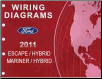 2011 Ford Escape, Escape Hybrid, Mercury Mariner & Mariner Hybrid Factory Wiring Diagrams Manual (SKU: FCS1432811)