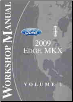 2009 Ford Edge and Lincoln MKX Factory Service Manual - 2 Volume Set (SKU: FCS14588091-2)