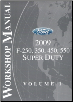 2009 Ford F-250, 350, 450 & 550 Factory Workshop Manual - 2 Volume Set (SKU: FCS14611091-2)