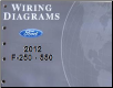 2012 Ford F-250, F-350, F-450 & F-550 Truck Factory Wiring Diagrams (SKU: FCS1461212)