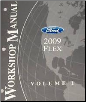 2009 Ford Flex Factory Service Manual, - 2 Volume Set (SKU: FCS1510609)